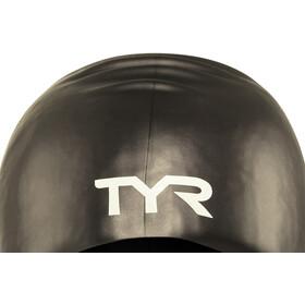 TYR Wrinkle-Free Long Hair Badehætte, black